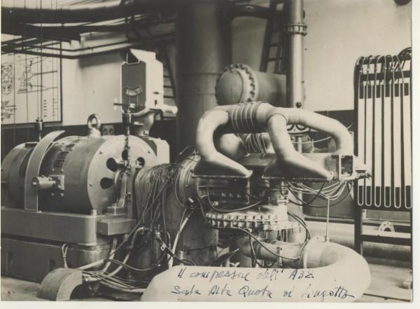 compressore motore aeronautico fiat A38 in wind tunnel fiat 1940