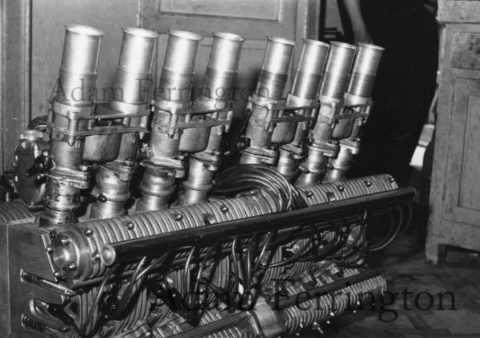 Una vettura di F1 italiana degli anni '50 a motore posteriore: la Milan-Franchini-Ruggeri