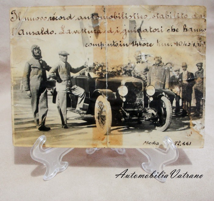 "Record di uomini ed auto ""Ansaldo 4CS Miramas"""