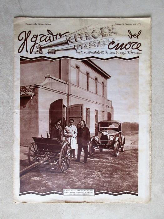 Il Grido del Cuore Citroen Italiana 30 gennaio 1929.